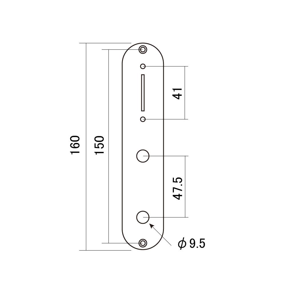 "Göldo CPT2C Control-Plate für Tele /""Space/"" chrom"